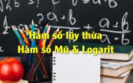 Hàm số lũy thừa, hàm số mũ và logarit, bài tập áp dụng - Toán 12